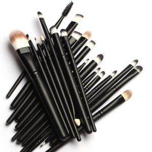 NEW 20pc Black Pro Makeup Brush Set